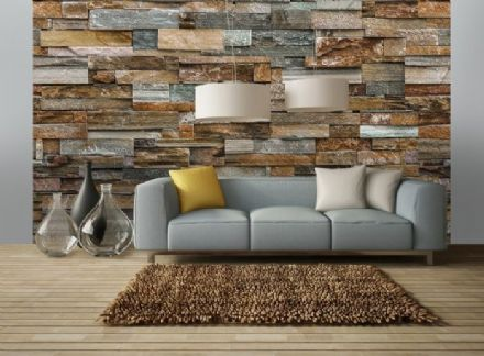 Colorful Stone Wall giant wall mural